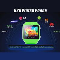 "1.65"" Capacitive Touch Screen 92U Smart Watch Phone GSM Quad Band Unlocked SIM slot Micro SD slot Bluetooth GPS Wristwatch"