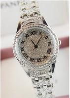 2014 women rhinestone watches crystal bracelet  famous brand women dress watch lady diamond quartz dress vitange wristwatch