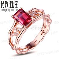 14k Rose Gold 1.24ct Pink Tourmaline & Natural Diamond Engagement Ring Fine Jewelry