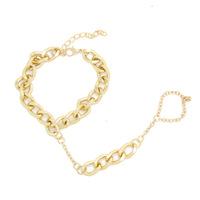 Gold Chain Bracelet Ring Fashion Jewelry for Women 2014 bracelets & bangles CB059 coupon