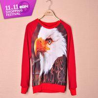 Animal pattern Owl printing 2014 Autumn long sleeve 3d sweatershirts women men hoodies tracksuits women tops