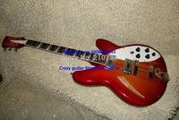 Wholesale -Newest Custom mahogany body Cherry 6 Strings 325 330 Custom Shop Electric Guitar Free Shipping