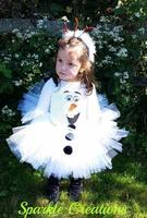 Christmas White Olaf Girl Party Dress Frozen Olaf Flower Girl TUTU Dress Pretty Girl Tutu Party Dress 20pcs/Lot DHL Fast Free sh