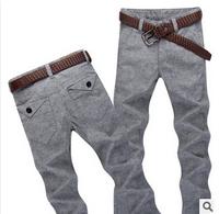 2014 Fashion British Style Men Pants Classic Comfortable Linen Casual Pants Men High Quality Large Size Business Trousers Men