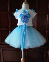 Hotsale Frozen Elsa Dress Children's Clothing Frozen Princess Elsa TUTU Dress Girl Elsa Tutu Party Dress 20pcs/Lot DHL Fast Free