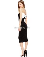 White big bow decoration tube top elegant slim hip dress one-piece dress women dress vestidos casual dress