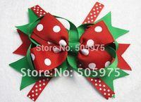 Free shipping baby hair clips  Christmas ribbon hair barrettes