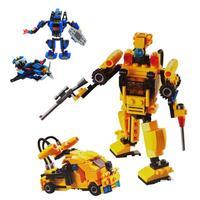 2014 Boys Model Building Kits Super Transform Robot Soldier Tanks Models Education Toys  Wholesale retails P14-07