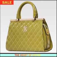 Fashion High Quality PU Women Handbag Female Plaid Sequined Hard Messenger Bag OL Shoulder Bag B039