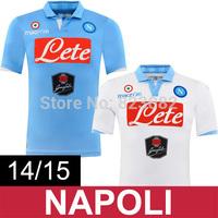 14/15 Napoli Jersey 9 HIGUAIN 7 CALLEJON Home Away Soccer Jersey 25 MICHU 17 HAMSIK Napoli Football Shirts Maglia Di Calcio
