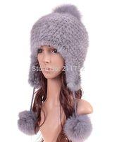 Real mink fur hat Beanie ski cap head warmer headgear hottest Skull womens' hat winter good gift earwarmer
