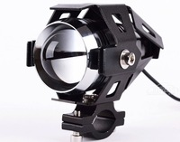 IP68 Led Motorcycle driving light Spot lamp 12v-80v Universal motorbike daytime flash light CREE 30W Headlights with Holders