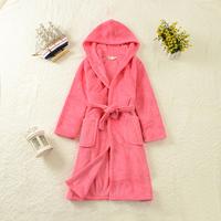 New Girls robe coral fleece thickening with a hood winter female child bathrobe Children's Clothing Sleepwear