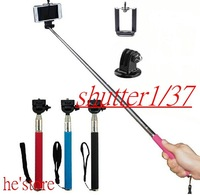 3in1 Extendable Stick Handheld Monopod +Clip Holder+Gopro Tripod  for iPhone Samsung Gopro Accessories