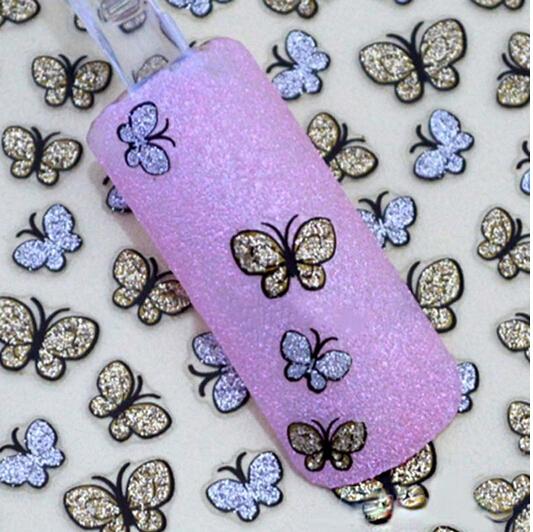 3D Butterfly Nail Art Shinning Stickers DIY Nail Sticker Nail Art Accessories(China (Mainland))