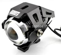 1 pair CREE Led motorcycle day light 12-80v 30W Motorbike spot headlight IP68 Day driving flash fog light with holder Brackets