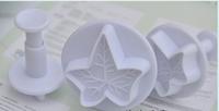New Snowflake Fondant Cake Decorating Plunger Sugarcraft Cutter Mold Tools Bakeware Tools 3pcs / lot