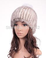 free shipping Women Russian Fur hats Luxury mink fur hat winter fur hat stripe toe cap covering cap Factory Price
