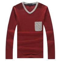 2014 autumn 2015 spring new men t shirts high quality Long Sleeve plus size 3XL 4XL 5XL  t shirt men tops tees