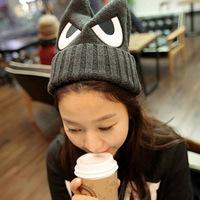 new 2014 cartoon devil winter hats for women cute eye woman beanie skullies gorro