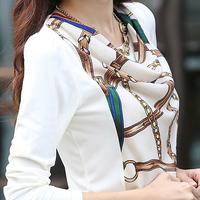 Autumn 2014 women's new big yards long sleeved T-shirt for women slim slim bottoming shirt girl white coat