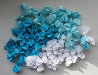 12 Feets Paper garland, , Heart garland, CHOSE YOUR COLOR, Wedding decoration, Bridal Shower decor, Nursery