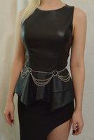 Free shipping High quality item fashion gold waist chain, four- body chain LSBJ-012