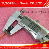 """Mini CCTV Camera Module High Resolution 1/3"""" HD 600TVL CMOS 600TVL PCB Camera 3.3mm Lens AV Out."""
