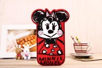 Graffiti Minnie Mouse Cartoon Silicone Soft Cover Phone Case For Samsung I9300 Galaxy SIII S3 Free Shipping