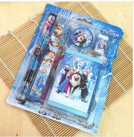 Estojo Escolar School Supplies 2014 New Top Fasion School Pencil Case Stationery Wallet Set + Wood 6pcs Frozen Gift for Students