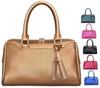 2014 New Design Women Leather Handbag Messenger bags Women Tassel Solid Bag Female Serpentine Leather bags BH870 Free Shipping