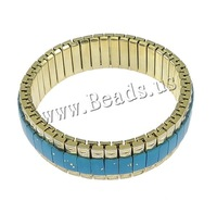 Free shipping!!!Fashion Turquoise Bracelets,Designer, with Brass, gold color plated, nickel, lead & cadmium free, 16x6mm