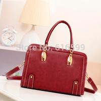 Vintage messenger bag 2014 sewing thread women's handbag preppy style one shoulder handbag messenger bag