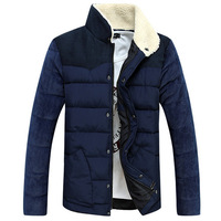 new style mens winter coats of down-jacket  stitching  men coats winter fashion 2014  casual cotton winter jackets for men 231B