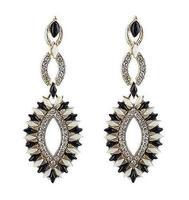 Wholesale Jewelry Fashion Rhinestone Drop Earrings Designer Women Brand Gems Brincos Dangle Date 8688
