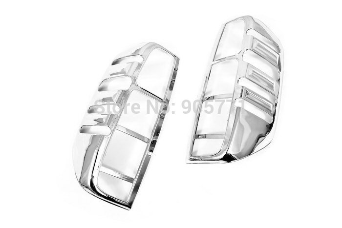 High Quality Chrome Tail Light Cover for Nissan Navara / Frontier D40 06-09 Free Shipping(Hong Kong)