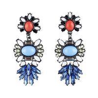 Wholesale Jewelry Fashion Rhinestoned Statement Earrings Designer Women Pendientes Brincos Party 8555