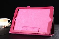 New arrival Lychee PU leather stand cover case for iPad 6,PU Leather protective case For iPad air 2,free shipping