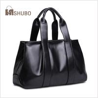 SHUBO Brand Designer 100% Real Leather Bags Fashion Women Genuine Leather Tote Women Shoulder Bag Messenger Handbags SH112