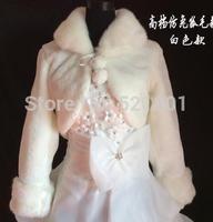 wedding jacket The bride shawl warm white red long-sleeved coat fur shawl wholesale sales bolero women wedding accessories
