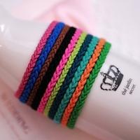 10pieces/lot Sweet hair accessory multicolour small twist ultra elastic headband hair rope beautiful women's hair bands kll5082