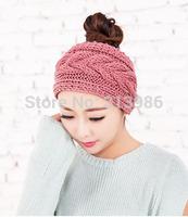 Retail women fashion hair accessories ear warmer headband Hand knitted headband  winter headband free shipping