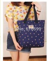 2014 small flowers all-match blue shoulder bag handbag large bag canvas bag female bags