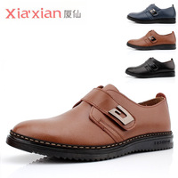 Round toe leather male new arrival genuine leather fashion summer breathable business casual trend of the