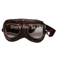 Pilots airman steampunk Ski riding goggles motorcycle Protective oculos motocross goggles Windproof glasses feminino de sol