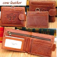 2014 vintage lion purse men wallets brand leather purse wallet genuine leather wallet  zipper wallets clutch purses 9988#