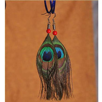 Free shipping,Ethnic jewelry peacock feathers earrings