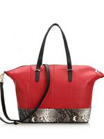 2014 genuine leather handbags for women, snake skin effect handbags, animal print shoulder bags