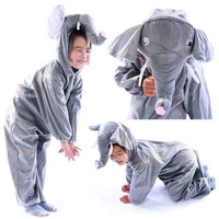 Party supplies fantasia kids Gray Elephant anime cosplay Onesie children's stage performance clothing halloween animal costumes