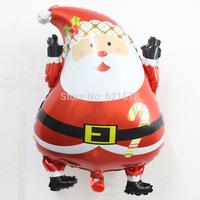 New arrival 5pcs/lot Santa Claus foil ballons shape mylar baloes for Christmas party decoration Aluminum balloon